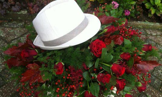 grafwerk bloemstukken begrafenis afscheidsdienst Angelique zweegers